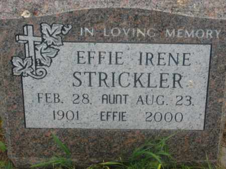 STRICKLER, EFFIE IRENE - Kingsbury County, South Dakota | EFFIE IRENE STRICKLER - South Dakota Gravestone Photos