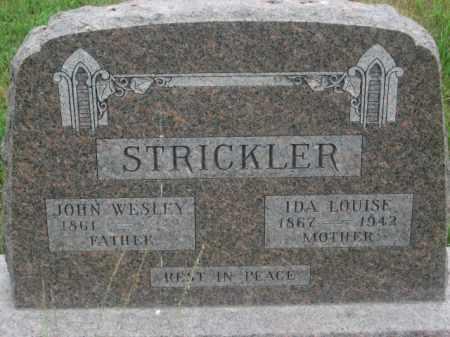 STRICKLER, JOHN WESLEY - Kingsbury County, South Dakota   JOHN WESLEY STRICKLER - South Dakota Gravestone Photos