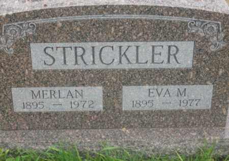 STRICKLER, MERLAN - Kingsbury County, South Dakota | MERLAN STRICKLER - South Dakota Gravestone Photos