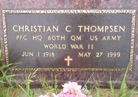 THOMPSEN, CHRISTIAN C. (WWII) - Kingsbury County, South Dakota   CHRISTIAN C. (WWII) THOMPSEN - South Dakota Gravestone Photos