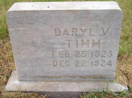 TIMM, DARYL V. - Kingsbury County, South Dakota | DARYL V. TIMM - South Dakota Gravestone Photos