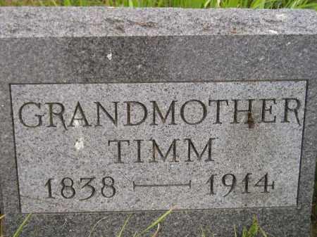 TIMM, JOHANNA - Kingsbury County, South Dakota   JOHANNA TIMM - South Dakota Gravestone Photos