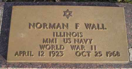 WALL, NORMAN F (MIL) - Kingsbury County, South Dakota | NORMAN F (MIL) WALL - South Dakota Gravestone Photos