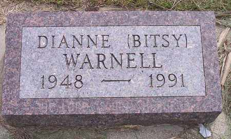 WARNELL, DIANNE (BITSY) - Kingsbury County, South Dakota | DIANNE (BITSY) WARNELL - South Dakota Gravestone Photos
