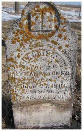 WARNER, CLARRISA - Kingsbury County, South Dakota   CLARRISA WARNER - South Dakota Gravestone Photos