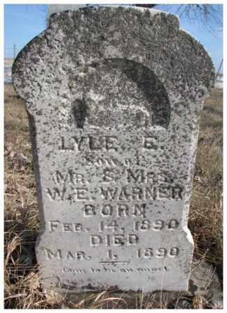 WARNER, LYLE E. - Kingsbury County, South Dakota | LYLE E. WARNER - South Dakota Gravestone Photos