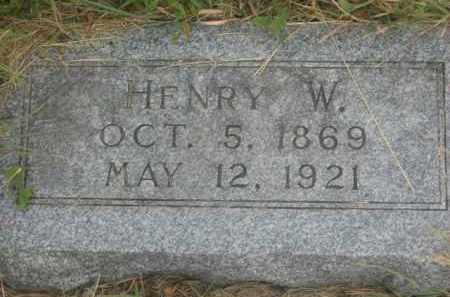 WEITZEL, HENRY W. - Kingsbury County, South Dakota | HENRY W. WEITZEL - South Dakota Gravestone Photos