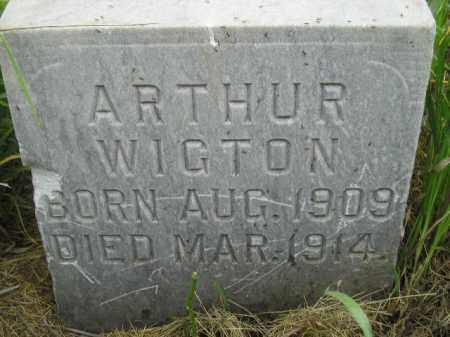WIGTON, ARTHUR - Kingsbury County, South Dakota | ARTHUR WIGTON - South Dakota Gravestone Photos
