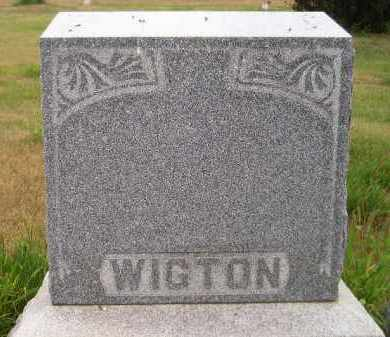 WIGTON, FAMILY STONE - Kingsbury County, South Dakota | FAMILY STONE WIGTON - South Dakota Gravestone Photos