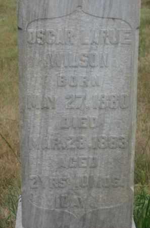 WILSON, OSCAR LARUE - Kingsbury County, South Dakota   OSCAR LARUE WILSON - South Dakota Gravestone Photos