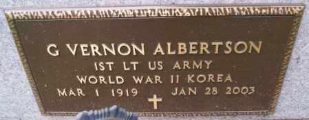 ALBERTSON, G VERNON (WWII KOREA) - Lake County, South Dakota | G VERNON (WWII KOREA) ALBERTSON - South Dakota Gravestone Photos