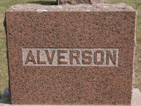 ALVERSON, FAMILY MARKER - Lake County, South Dakota | FAMILY MARKER ALVERSON - South Dakota Gravestone Photos