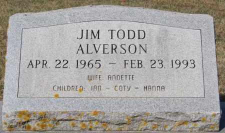 ALVERSON, JIM TODD - Lake County, South Dakota | JIM TODD ALVERSON - South Dakota Gravestone Photos