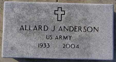ANDERSON, ALLARD J (MILITARY) - Lake County, South Dakota | ALLARD J (MILITARY) ANDERSON - South Dakota Gravestone Photos