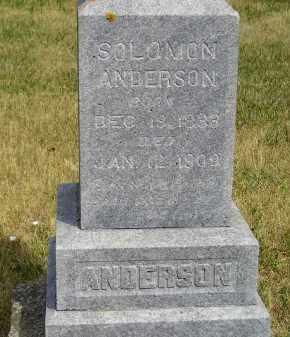 ANDERSON, SOLOMON - Lake County, South Dakota | SOLOMON ANDERSON - South Dakota Gravestone Photos