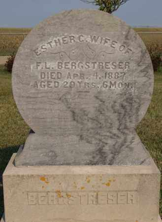 BERGSTRESER, ESTHER C - Lake County, South Dakota | ESTHER C BERGSTRESER - South Dakota Gravestone Photos