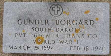 BORGARD, GUNDER (WWI) - Lake County, South Dakota   GUNDER (WWI) BORGARD - South Dakota Gravestone Photos