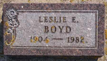 BOYD, LESLIE E - Lake County, South Dakota | LESLIE E BOYD - South Dakota Gravestone Photos