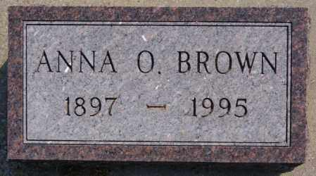 BROWN, ANNA O - Lake County, South Dakota | ANNA O BROWN - South Dakota Gravestone Photos