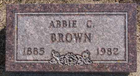 BROWN, ABBIE C - Lake County, South Dakota | ABBIE C BROWN - South Dakota Gravestone Photos