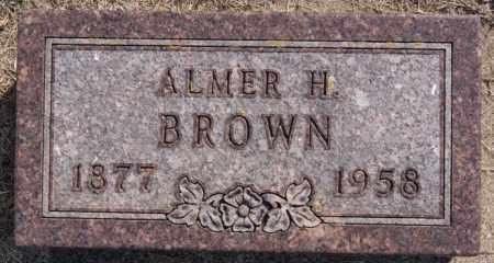BROWN, ALMER H - Lake County, South Dakota   ALMER H BROWN - South Dakota Gravestone Photos