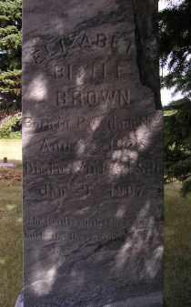 BROWN, ELIZABETH - Lake County, South Dakota | ELIZABETH BROWN - South Dakota Gravestone Photos