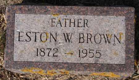 BROWN, ESTON W - Lake County, South Dakota   ESTON W BROWN - South Dakota Gravestone Photos