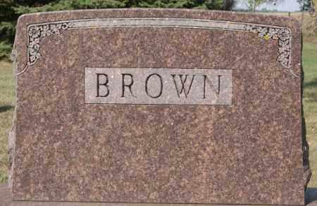 BROWN, FAMILY MARKER - Lake County, South Dakota | FAMILY MARKER BROWN - South Dakota Gravestone Photos