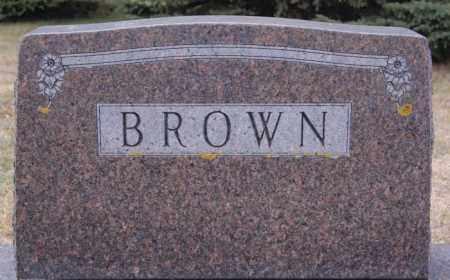 BROWN, FAMILY MARKER - Lake County, South Dakota   FAMILY MARKER BROWN - South Dakota Gravestone Photos