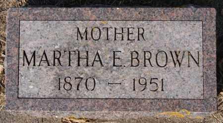 BROWN, MARTHA E - Lake County, South Dakota   MARTHA E BROWN - South Dakota Gravestone Photos