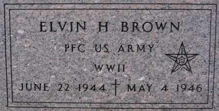 BROWN, ELVIN H (WWII) - Lake County, South Dakota | ELVIN H (WWII) BROWN - South Dakota Gravestone Photos
