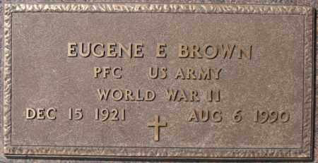 BROWN, EUGENE E (WWII) - Lake County, South Dakota   EUGENE E (WWII) BROWN - South Dakota Gravestone Photos