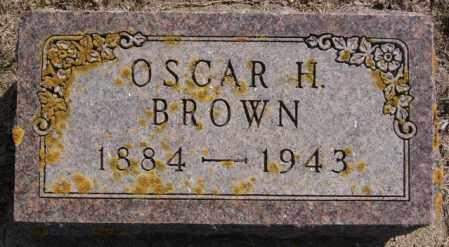 BROWN, OSCAR H - Lake County, South Dakota   OSCAR H BROWN - South Dakota Gravestone Photos