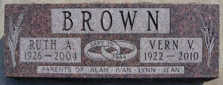 BROWN, VERN V - Lake County, South Dakota | VERN V BROWN - South Dakota Gravestone Photos