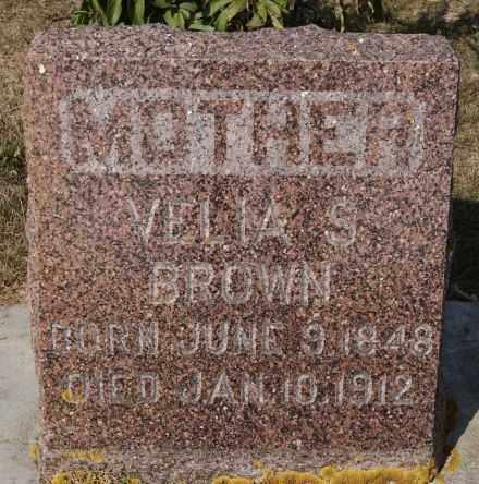 BROWN, VELIA S - Lake County, South Dakota | VELIA S BROWN - South Dakota Gravestone Photos