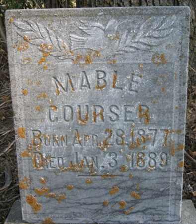 COURSER, MABLE - Lake County, South Dakota   MABLE COURSER - South Dakota Gravestone Photos