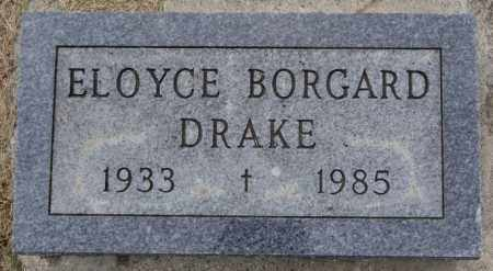 DRAKE, ELOYCE - Lake County, South Dakota | ELOYCE DRAKE - South Dakota Gravestone Photos