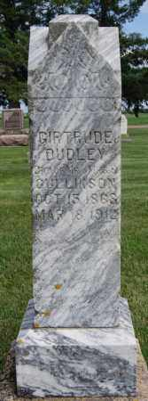 DUDLEY, GIRTRUDE - Lake County, South Dakota | GIRTRUDE DUDLEY - South Dakota Gravestone Photos