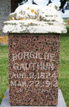 GAUTHUN, BORGILDE - Lake County, South Dakota | BORGILDE GAUTHUN - South Dakota Gravestone Photos