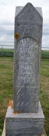 GAUTHUN, MATILDA - Lake County, South Dakota   MATILDA GAUTHUN - South Dakota Gravestone Photos