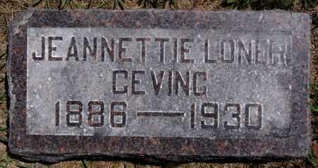 GEVING, JEANNETTIE - Lake County, South Dakota   JEANNETTIE GEVING - South Dakota Gravestone Photos