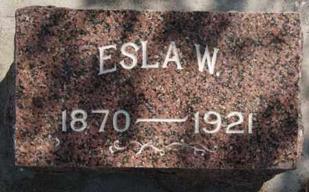 HALL, ESLA - Lake County, South Dakota | ESLA HALL - South Dakota Gravestone Photos