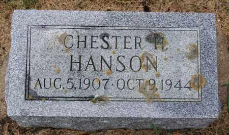 HANSON, CHESTER H - Lake County, South Dakota   CHESTER H HANSON - South Dakota Gravestone Photos