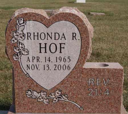 HOF, RHONDA R - Lake County, South Dakota | RHONDA R HOF - South Dakota Gravestone Photos