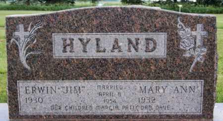 HYLAND, ERWIN - Lake County, South Dakota   ERWIN HYLAND - South Dakota Gravestone Photos
