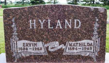 HYLAND, MATHILDA - Lake County, South Dakota | MATHILDA HYLAND - South Dakota Gravestone Photos