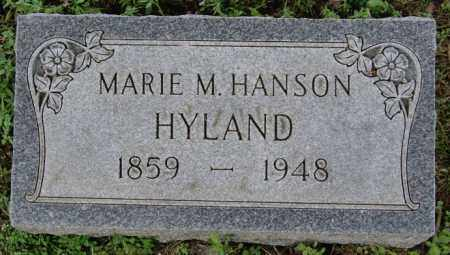 HANSON HYLAND, MARIE M - Lake County, South Dakota | MARIE M HANSON HYLAND - South Dakota Gravestone Photos