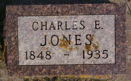 JONES, CHARLES E - Lake County, South Dakota   CHARLES E JONES - South Dakota Gravestone Photos