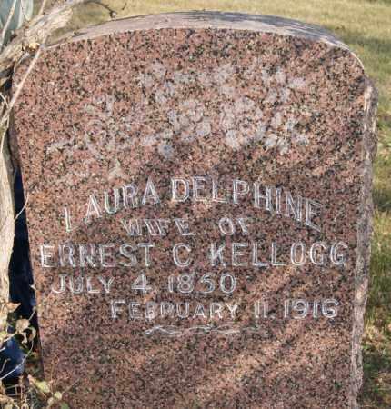 KELLOGG, LAURA DELPHINE - Lake County, South Dakota | LAURA DELPHINE KELLOGG - South Dakota Gravestone Photos