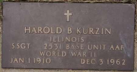 KURZIN, HAROLD B (WWII) - Lake County, South Dakota | HAROLD B (WWII) KURZIN - South Dakota Gravestone Photos